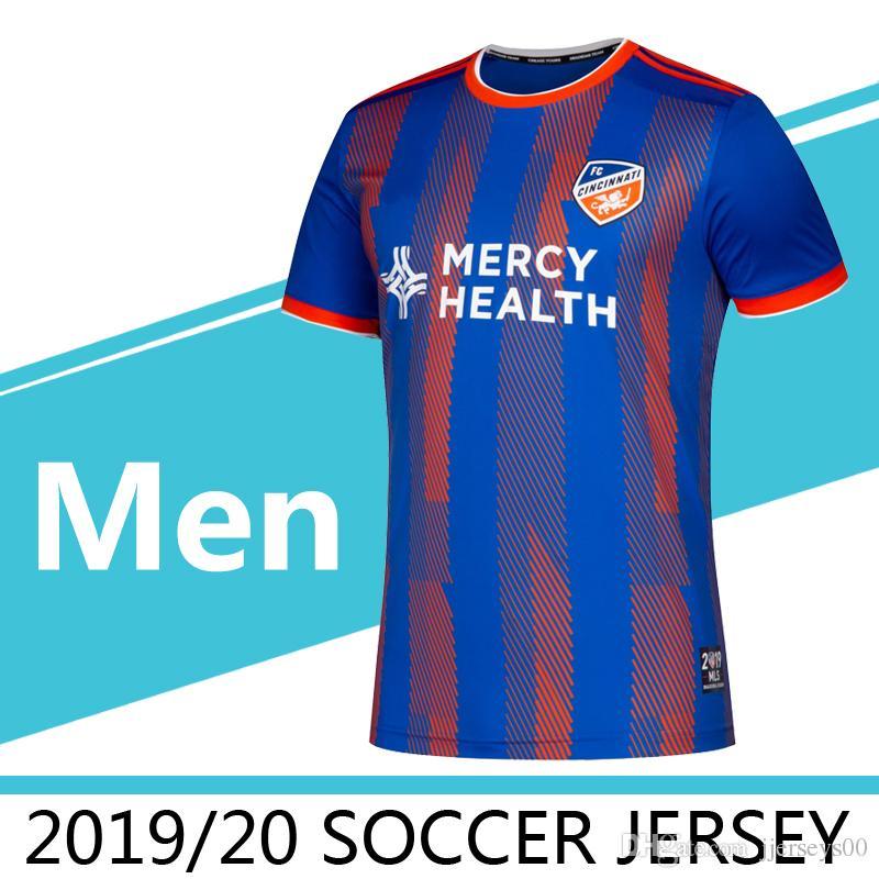 the best attitude 94e2e 2762f 2019 2020 MLS Men s FC Cincinnati home soccer jerseys 2019 MLS GARZA WASTON  BERTONE ADI A.CRUZ soccer jersey adult Running Jerseys