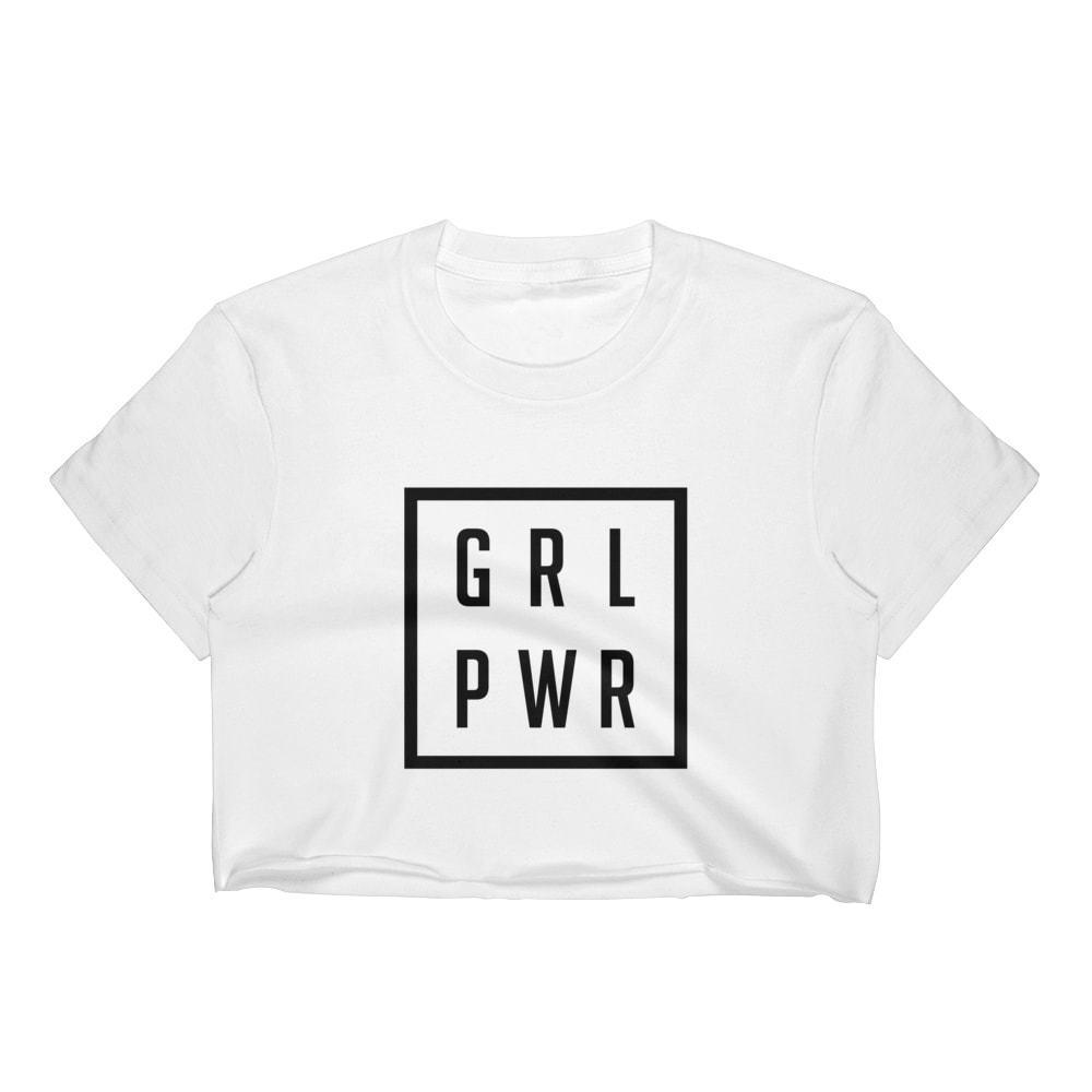 20fe1dfe4c2 GRL PWR GIRL POWER CROP TOP T SHIRT WOMENS FUNNY HIPSTER SLOGAN LADIES  CUTEFunny Unisex Casual Tee Shirt Designers Funny Print T Shirts From  Fastshipdirect