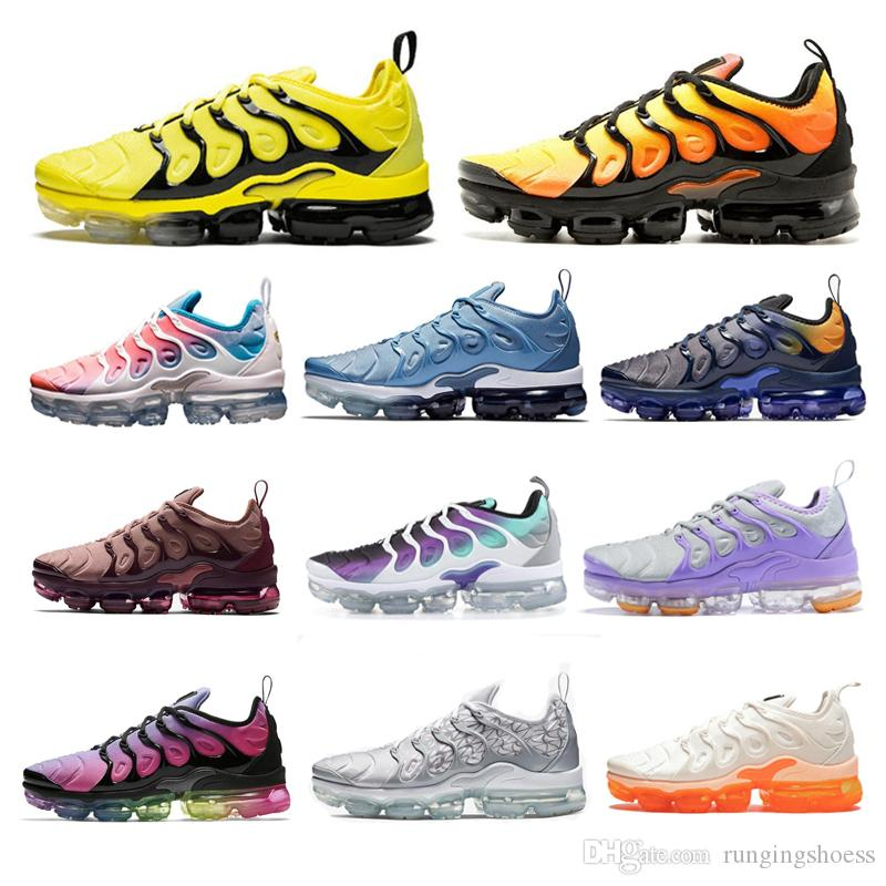hot sale online ce387 fa154 2019 2019 TN Plus Running Shoes Men Women Black Triple Speed Sunset Photo  White Wolf USA Designer Shoe Sport Sneakers Trainers With Box From  Rungingshoess, ...