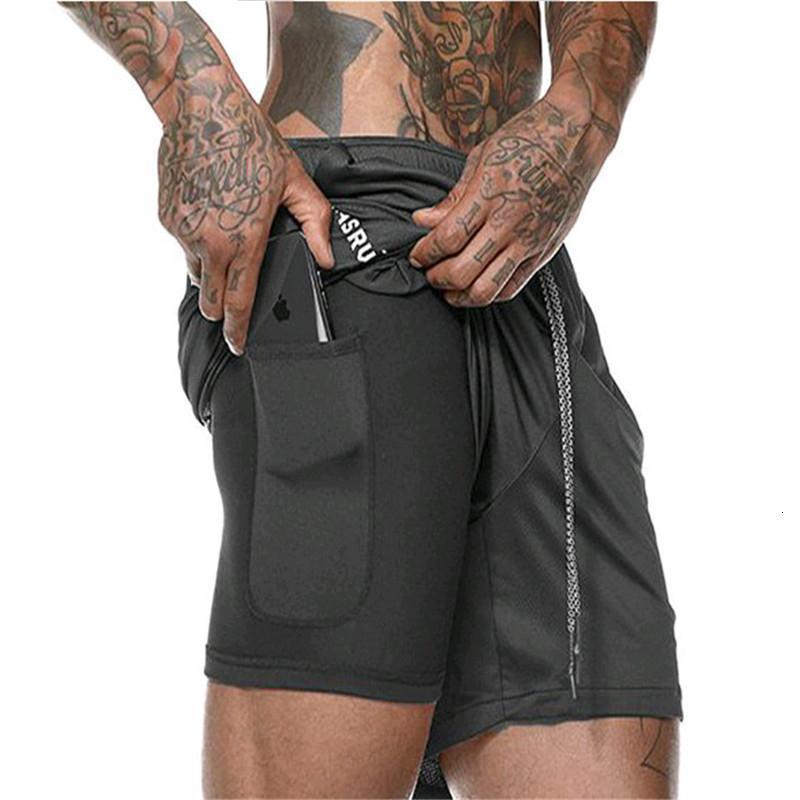 2019 New Men Summer Slim Shorts Gyms Fitness Bodybuilding Running Male Shorts Knee Length Breathable Shorts Mesh Sportswear MX190718