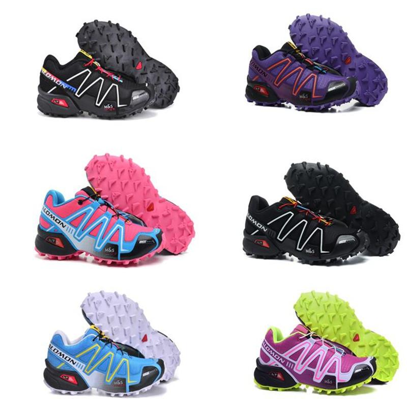 b5a307c750fd New Solomon Speed Cross 3 CS III Running Shoes Black Silver Red Pink Blue  Women Outdoor SpeedCross 3s Hiking Womens Sports Sneakers 36 41 Leather  Shoes ...