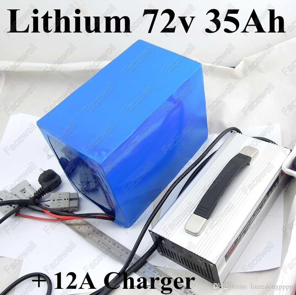 Large capacity 72v 35ah battery 72v 30ah lithium battery for electric bike  72v 3000w motor 2000w Vehicle tricycle scooters 5000w
