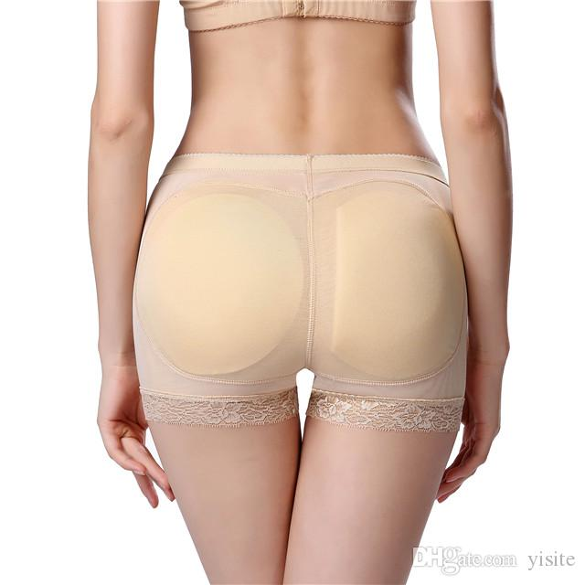 38bb8a32d Compre Sexy Sem Costura Calcinha Acolchoada Quadril Shaper Hip Up Calcinha  Cueca Nádega Bunda Falsa Pum Enchimento Butt Lifter Hip Enhancer De Yisite