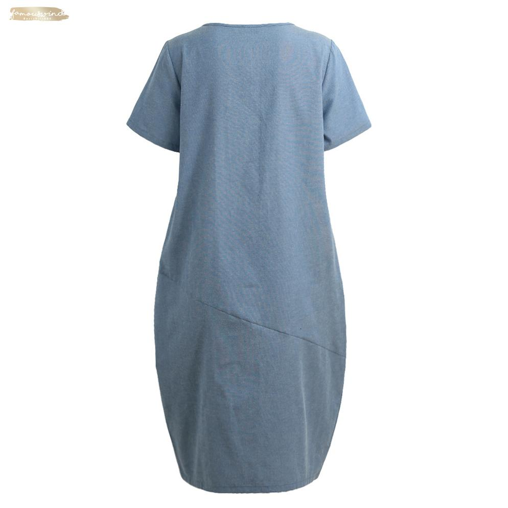Women Dress Casual Loose Mid-Calf Solid Color Short Sleeve Pocket Summer Dress Fashion Plus Size Dress 4Xl 5Xl Designer Clothes