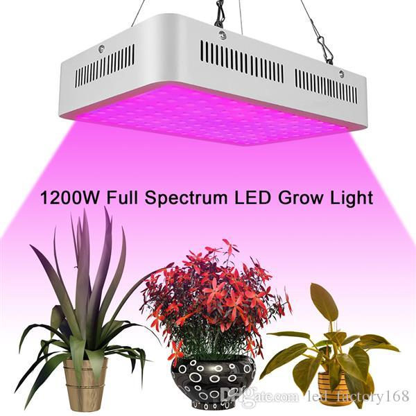 1200W LED Grow Light Dual Switch & Dual Chips Full Spectrum Plant Light for  Hydroponic Indoor Plants Veg and Flower (10W LEDs 120Pcs)