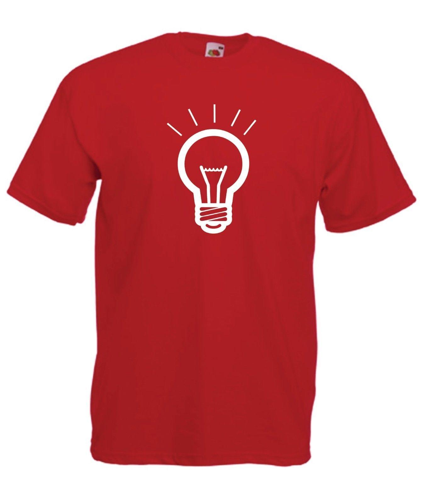 FUNNY LIGHT BULB Tee Present NEW Xmas Birthday Gift Ideas Boys Girls Top T SHIRT Tees Custom Jersey Shirt Dress Cheap Shirts From Mooncup