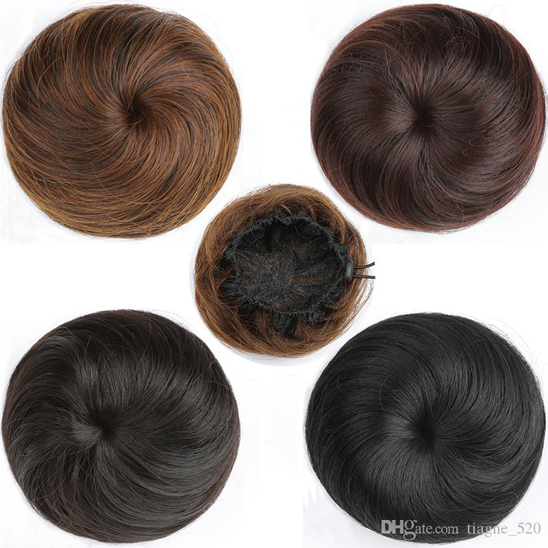 Short Hairpin Straight Hair Flower Hair Ring Buckle Type Rubber Band Lady Elastic Net Synthetic Hair Fiber High Temperature Fiber