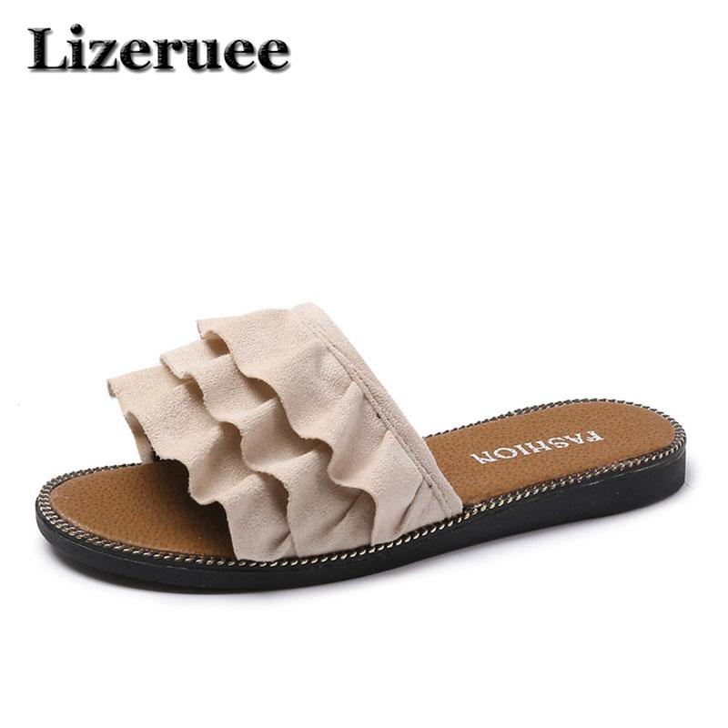 0f47b8d36c71 New 2018 Women Beach Sandals Fashion Slippers Summer Women Flat Shoes Woman  Flat Sandals Flip Flop Zapatos Mujer HS126 Brown Boots Winter Boots For  Women ...