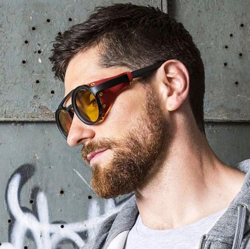 27eeb29c4a0 Jackjad 2019 Fashion Vintage Steampunk Punk Style Round Sunglasses ...
