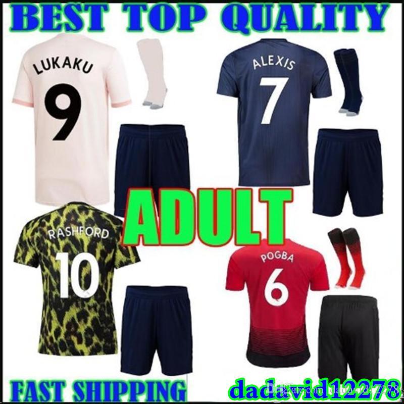 dbf711885 Adult Kit 18 19 Lukaku Soccer Jersey Home Away Third 2018 2019 ...