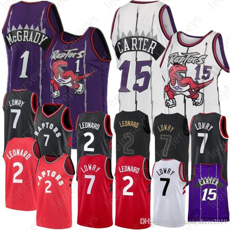 2019 McGrady 1 Tracy Toronto Carter 15 Vince McGrady Jersey Raptors 2 Kawhi  7 Kyle Leonard Lowry Retro Carter Men Youth Basketball Jerseys From ... 41e27052d