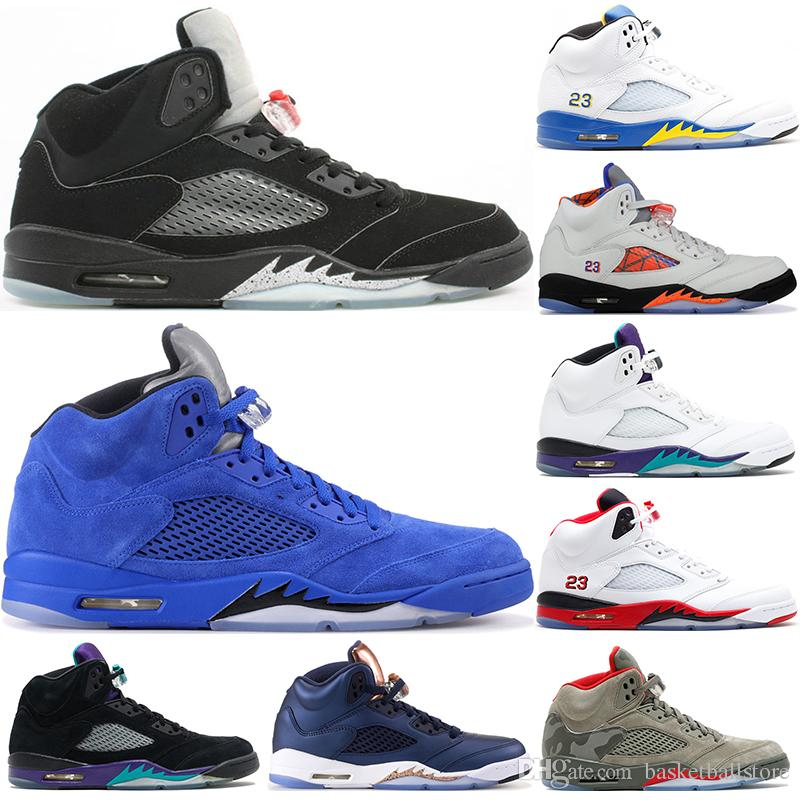 online store 26cf9 22619 Nike Air Jordan 5 Retro Zapatos De Baloncesto Alas Oregon Ducks Vuelo  Internacional De París Uva Cemento Blanco Negro Metalizado Rojo Gamuza Oreo  Hombres ...
