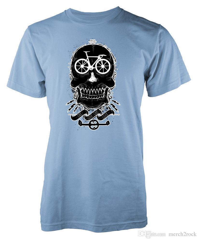 Bnwt One Gear One Love Bicycle Bike Skull Cycling T Shirt S Xxl Make