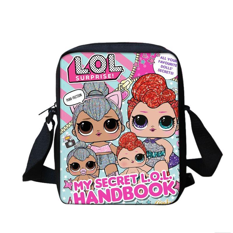 2019 New Lol Doll Shoulder Bag Lady Messenger Bags Cartoon Fashion