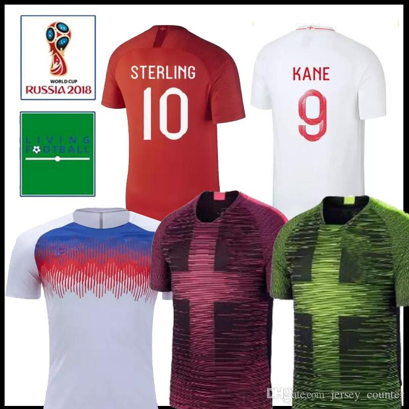 size 40 5a00b a4fcb 2019 UK England Training Soccer Jersey 18 19 Black Pink VOLT #9 KANE #10  DELE Soccer Shirts LINGARD VARDY Football uniform
