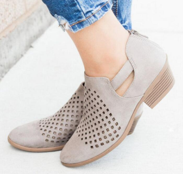 Chaussures Out Zapato Ete Botines De Ab0026 Mujer Bombas Medio Femme Sandalias Damas Cusual Hollow Tacón AqSRLc4j35