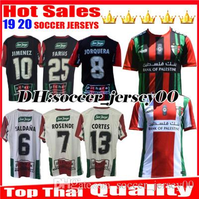 b39c6875cfd 2019 2019 2020 Club Deportivo Palestino Soccer Jerseys 19 20 CAMPOS  VALLEJOS CUTIERREZ ORRES ROSENDE CORTES BENITEZ Home Away Football Shirts  From ...