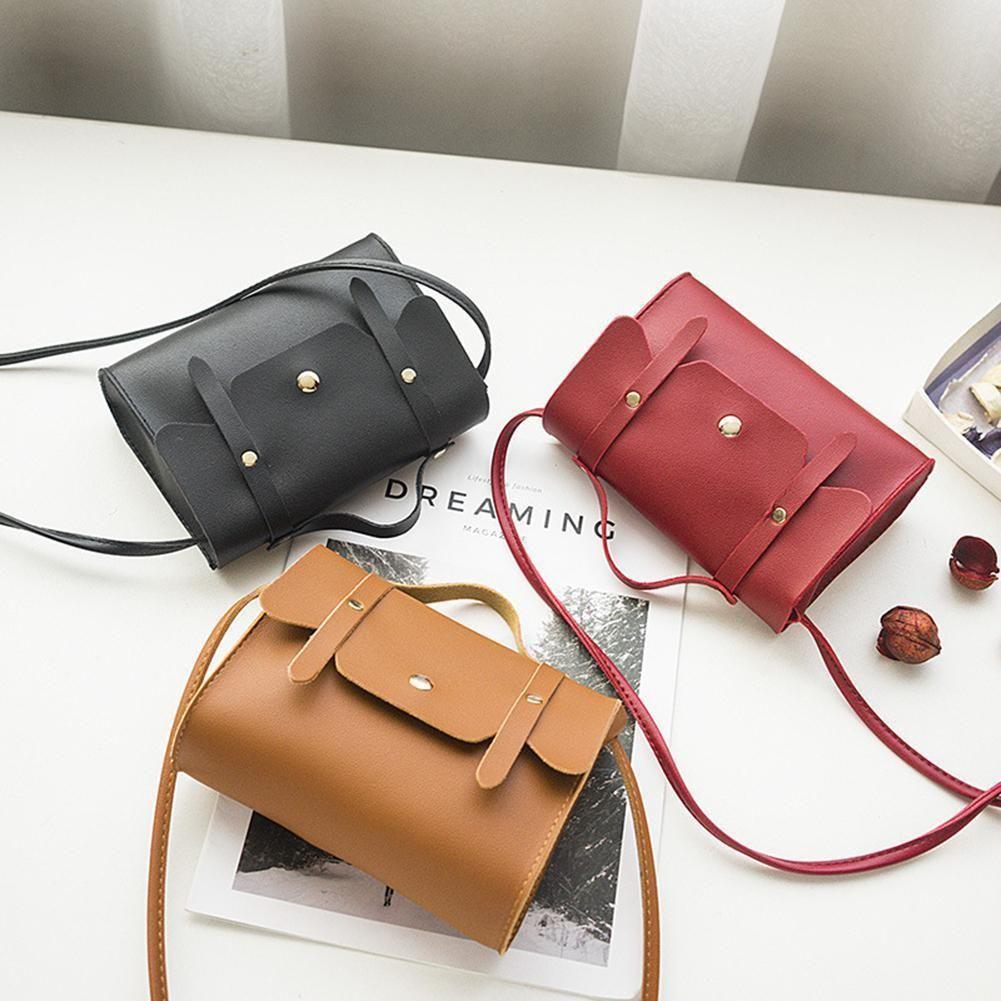 746c4aa694af Cheap Women Fashion Solid Color Zipper Shoulder Bag simple flap Crossbody  Bag PU Leather Phone Coin Bag new trend Handbag zk30