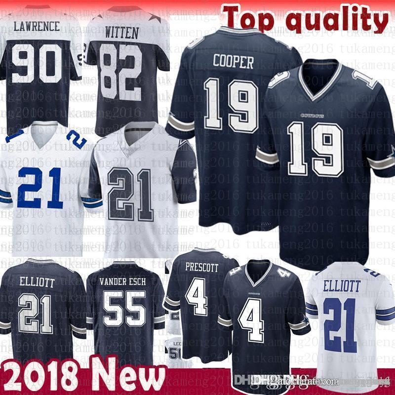 newest 0ef8e 2b0f4 19 Amari Cooper Dallas Cowboys Jersey 90 DeMarcus Lawrence 4 Dak Prescott  21 Ezekiel Elliott jersey 2018 new Color RUSH
