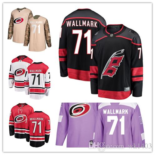Carolina Hurricanes Jerseys  71 Lucas Wallmark Jersey Hockey Men Women  Youth Authentic Black Alternate Red Home White Away Stiched Jerseys UK 2019  From ... ced7ee770