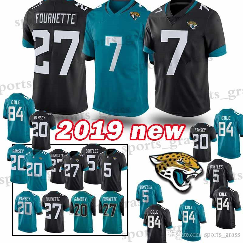 1dc23c87a1c 7 Nick Foles Jacksonville Jaguar Jersey 27 Leonard Fournette 20 ...