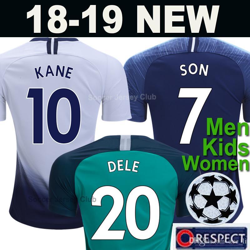 c89deb95c Compre Tottenham Hotspur Camisa De Futebol SPURS 2018 2019 Soccer Jersey  Homens Crianças Das Mulheres Football Shirts KANE FILHO ERIKSEN LAMELA DELE  18 19 ...