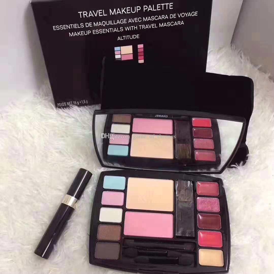 7ef09668ad7 NEW Brand Travel Makeup Palette Essentials With Travel Mascara Pressed  Powder +Mascara+Lip Stick+Brush+Eyeshadow Airbrush Makeup Cosmetics From ...