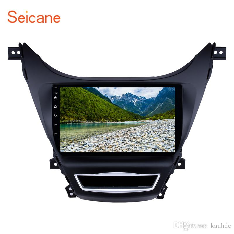 Quad-core 9 inch Android 9 0 car Radio GPS Navigation for 2012 2013 Hyundai  Elantra with Bluetooth Music WiFi support 4G car dvd
