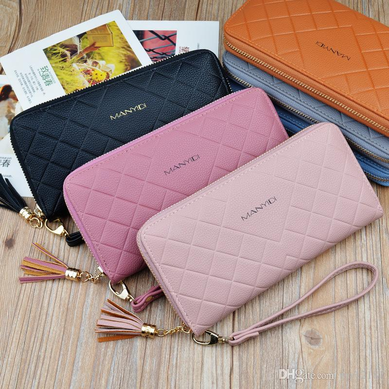 36bd08cd46b Fashion Long Zipper Lady Purses Women Wallets Female New Luxury Phone  Tassel Coin Pocket Designer Clutch PU Leather Card Holder Leather Bags Hobo  Wallets ...