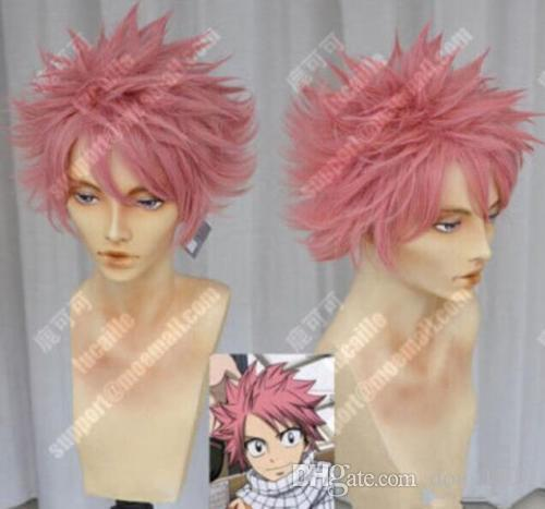 New Cosplay Cartoon Characters Monkey D Luffy Pink Short Wig Anbu