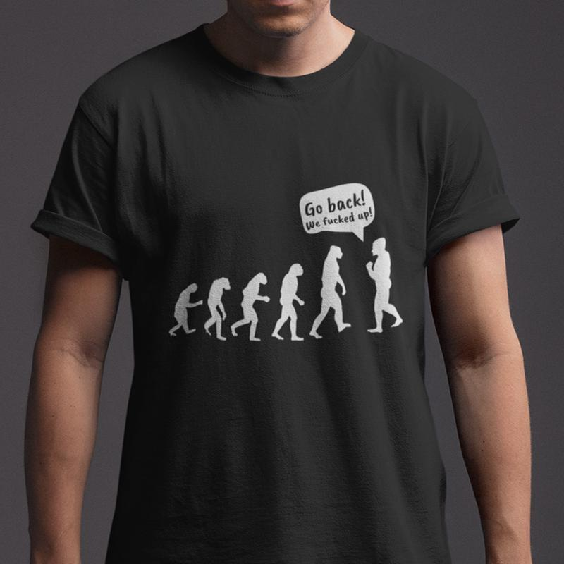 03ccc8640ab2 UP FUNNY EVOLUTION MEN S BLACK T SHIRT SIZE S 5XL Funny Unisex Casual T Shirt  Cool Design T Shirts Online From Britwear