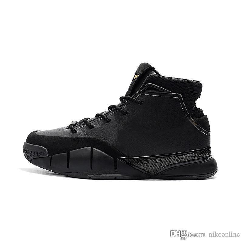 e638a6494546 2019 Cheap 2018 New Kobe 1 Protro Basketball Shoes Mid High Tops Mamba S  Day Black Gold FTB Zoom Air KB Trainers ZK1 Sneakers For Men With B From  Nikeonline ...