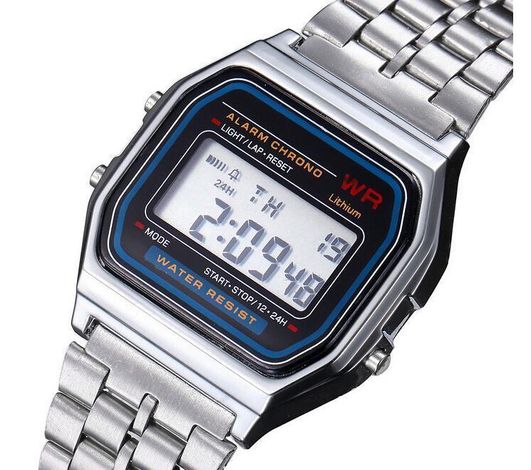 99d6b183b3c Compre Frete Grátis F 91W Relógios Moda Ultra Fino LED Relógios De Pulso  F91W Homens Mulheres Esporte Relógio 2019 Novo A159W LED Relógios Digitais  De ...