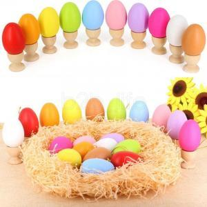 DIY Easter Egg with Lanyard Child Doodle Painted Plastic hangding empty Egg Shell kids candy color Novelty toys AAA1651