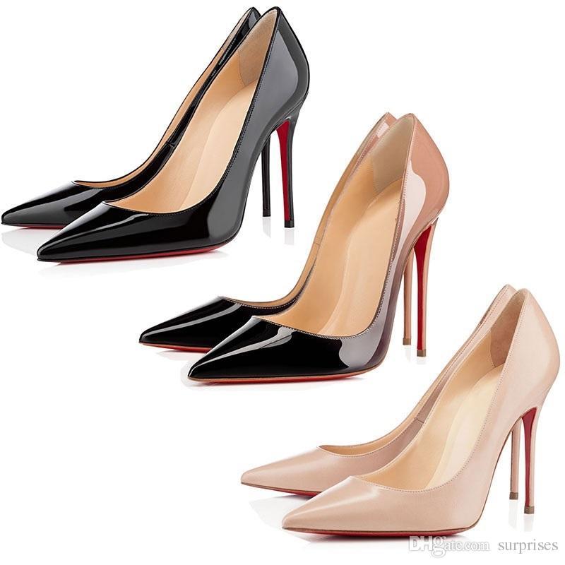 c15ae8292bb6a Acheter Christian Louboutin CL Designer Shoes Sneaker So Kate Styles  Chaussures À Talons Chaussures Rouge Bas Noir Luxe Nude Couleur Véritable  Cuir Point ...