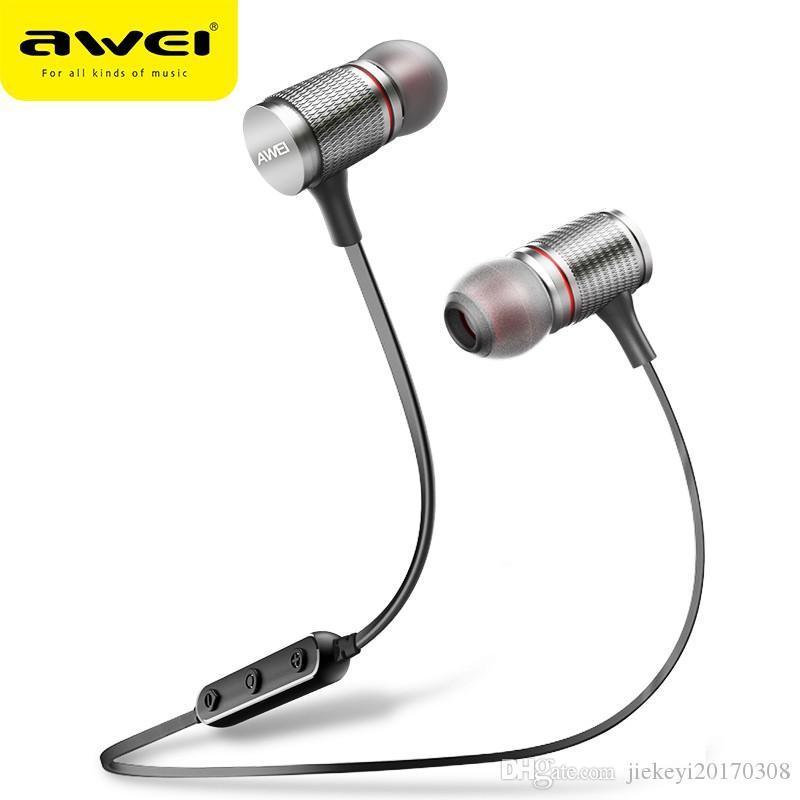 dc4017f0515 AWEI T12 Bluetooth Headphone Wireless Earphone Headset For Phone  Auriculares Kulakl K Cordless Earpiece Bluetooth V4.2 Casque Top 10 Headphones  Workout ...