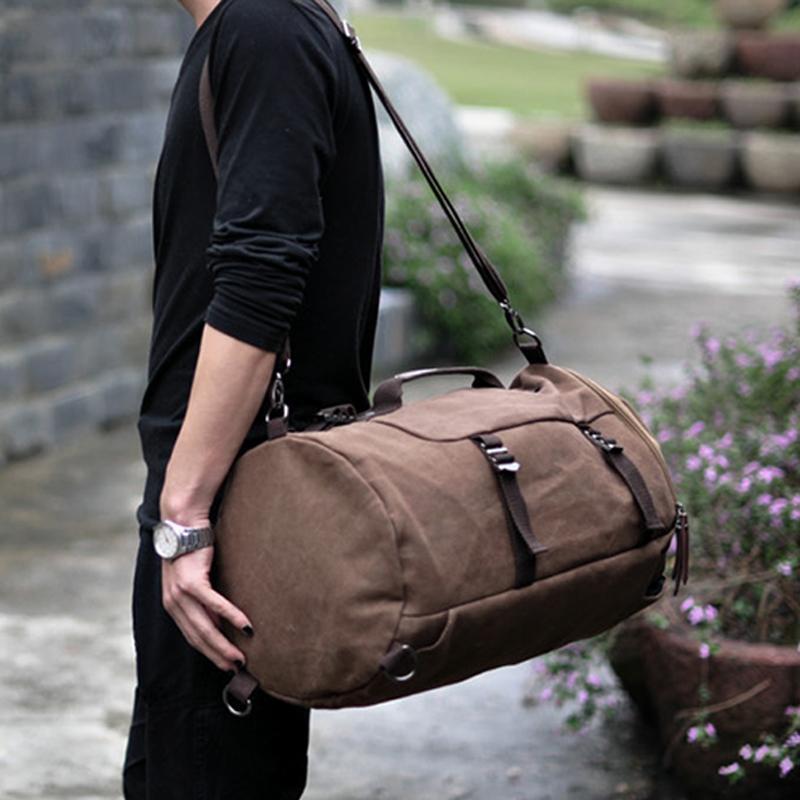 240f74dd9b50 Backpack Space Men S Vintage Canvas Duffel Convertible Bag 3 In 1 Shoulder  Back Pack For Backpack Travelling Y02 Black Leather Backpack Backpacks For  School ...