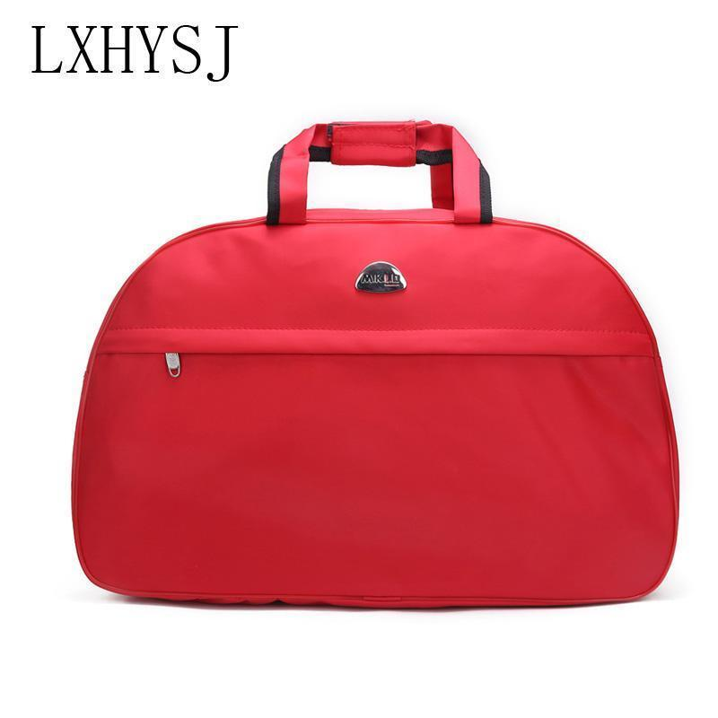 Lxhysj Fashion Travel Bag Organizer Large Capacity Ms Luggage Bags Men And Women Oxford Cloth Hand Shoulder Bag