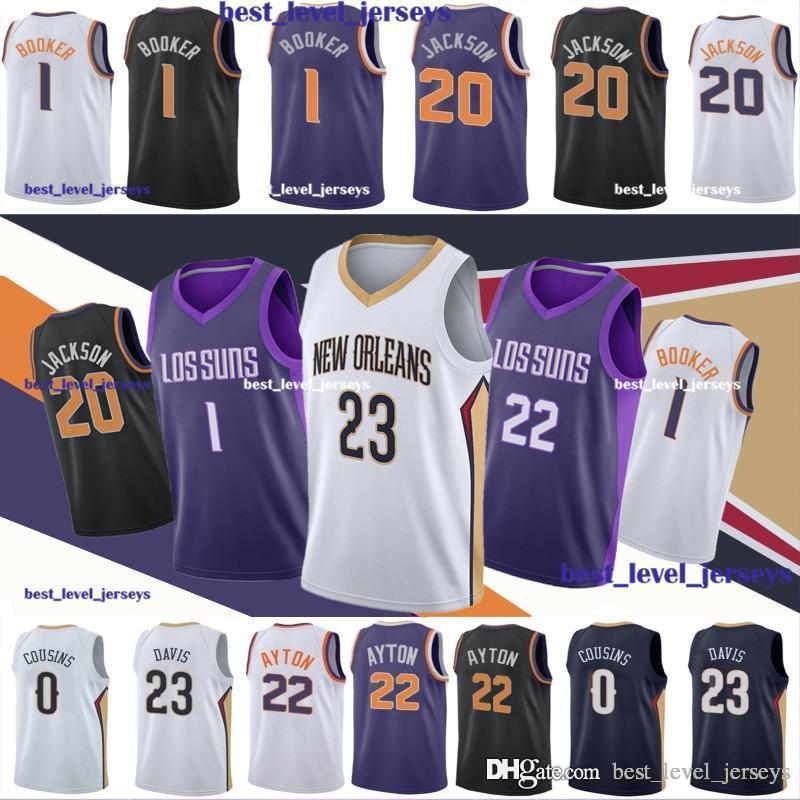 763fae9402f 2019 Josh 20 Jackson Jerseys Denver 1 Booker Jersey Where Are You Going AD    Anthony 23 Davis Jersey Phoenix Jerseys Suns Jersey Fast Shipping From ...