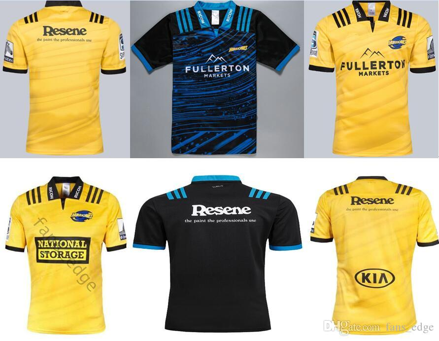 989164f26d4 2019 High Quality Hurricane Super Rugby Jersey Yellow Black Home Away 2018  2019 New Zealand Club Rugby Jerseys SUPER RUGBY League Shirt S 3XL From ...