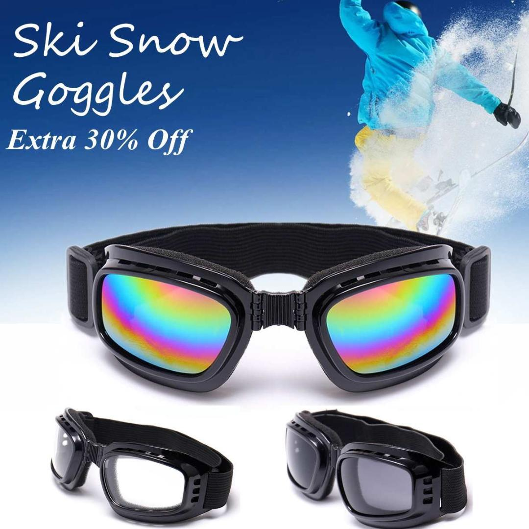 0048d8f7368 2019 Foldable Ski Skiing Goggles Black Frame + Color Clear Grey Len  Snowboard Motorcycle Glasses Off Road Racing Eyewear Ergonomic From Booni