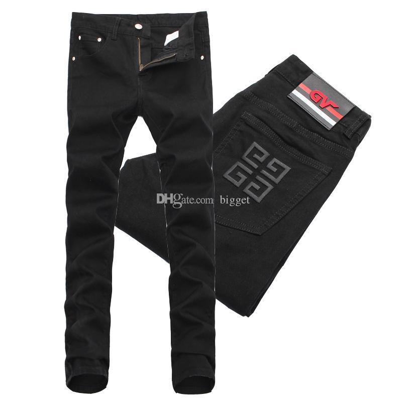 39559f6941b7e8 Acquista T Shirt Da Uomo Slim Fit In Denim Nero Con Tacco Largo Da Uomo A  $39.6 Dal Bigget | DHgate.Com