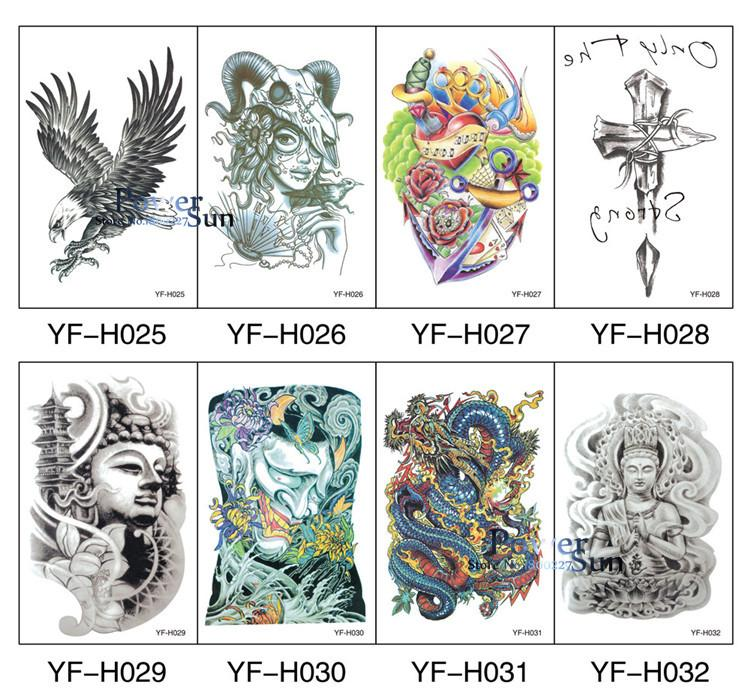 Sexy Fake Tattoo Sleeve For Men Women Feather Black Ink English Word Letter Tatoo Body Back Art Temporary Tattoo Sticker PQSA053