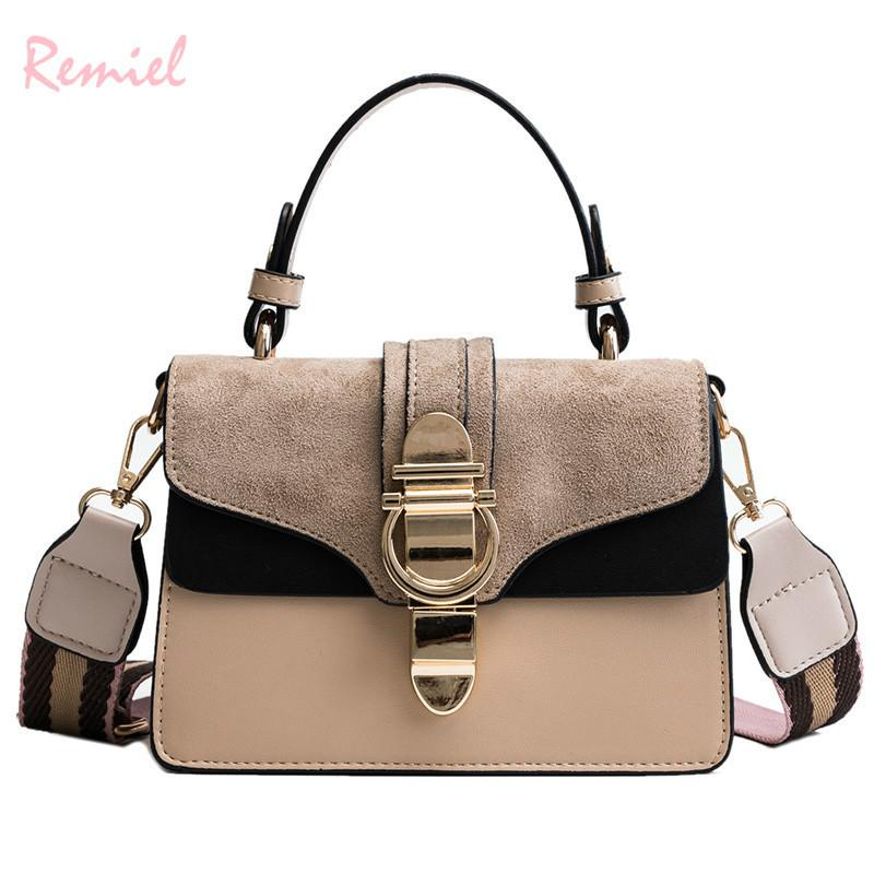 1ab99ff043 2019 Fashion New Ladies Square Tote Bag High Quality Pu Leather Women S  Designer Handbag Lock Shoulder Messenger Bag Crossbody Satchel Laptop Bags  From ...
