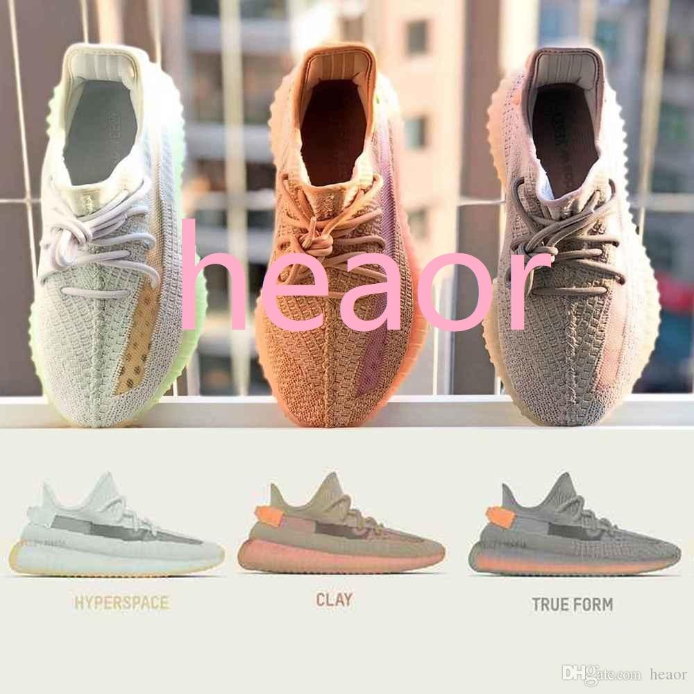 03023bc8c91d7 Adidas Yeezy Boost Sply 350 V2 2019 New Men Women STATIC Hyperspace True  Form Clay Sneakers Sports Running Shoes Cheap Shoes Shoes For Women From  Heaor