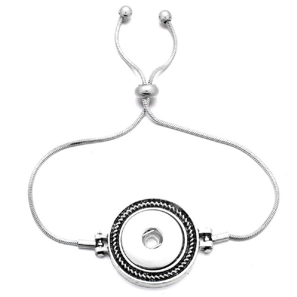 JaynaLee регулируемая змея цепи имбирь защелки Шарм браслеты ювелирные изделия подходят 18 мм или 20 мм защелки для женщин мужчины подарок GJB8003