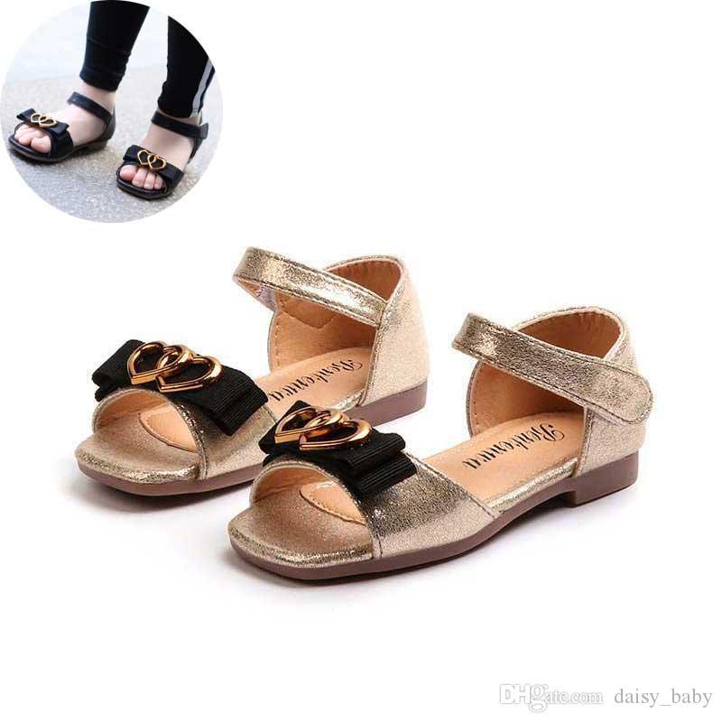 ea9c9918b5cce Acheter Filles PU Sandales 2019 Nouvel Été Enfants Chaussures Enfant En Bas  Âge Sandale Mode Bowtie Peep Toe Filles Sandales Enfants Princesse  Chaussures ...