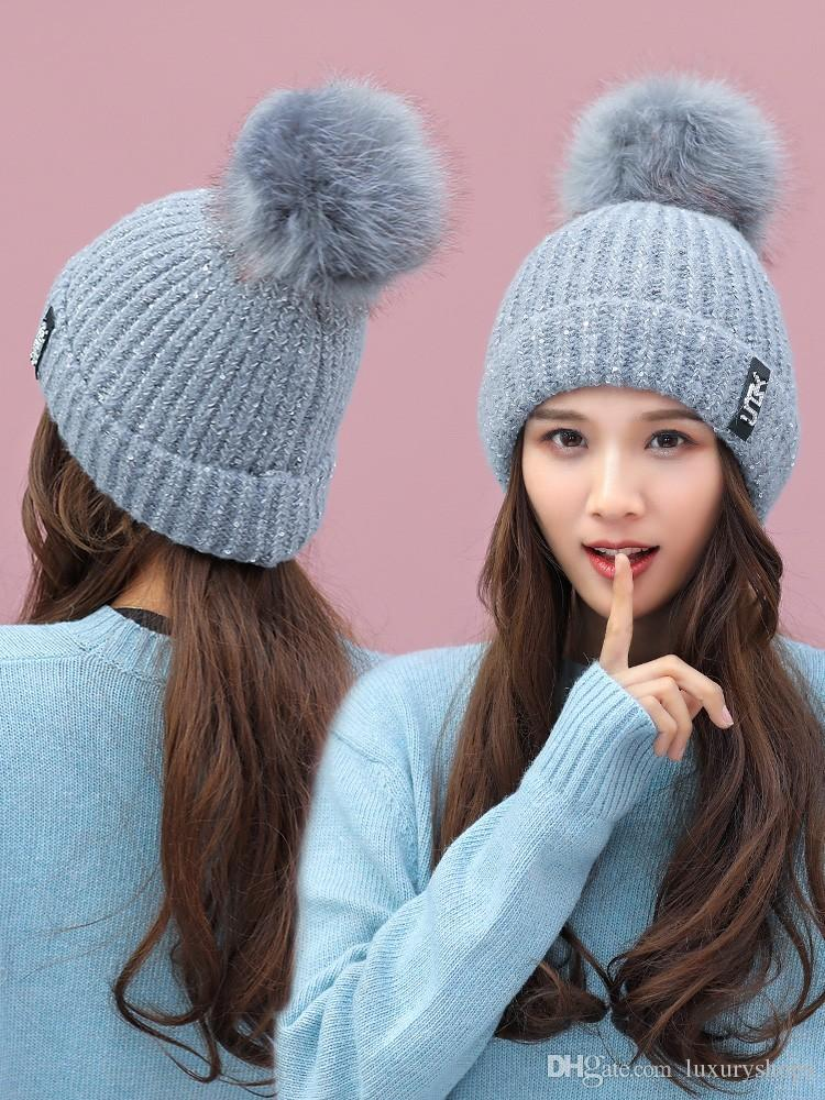 New Wool Cap Winter Hat Women Winter Korean Version Leisure Fashion Cute  Wool Knitted Warm Ear Hat Tide Crochet Beanie Pattern Beard Beanie From  Luxuryshops ... e3c968346de