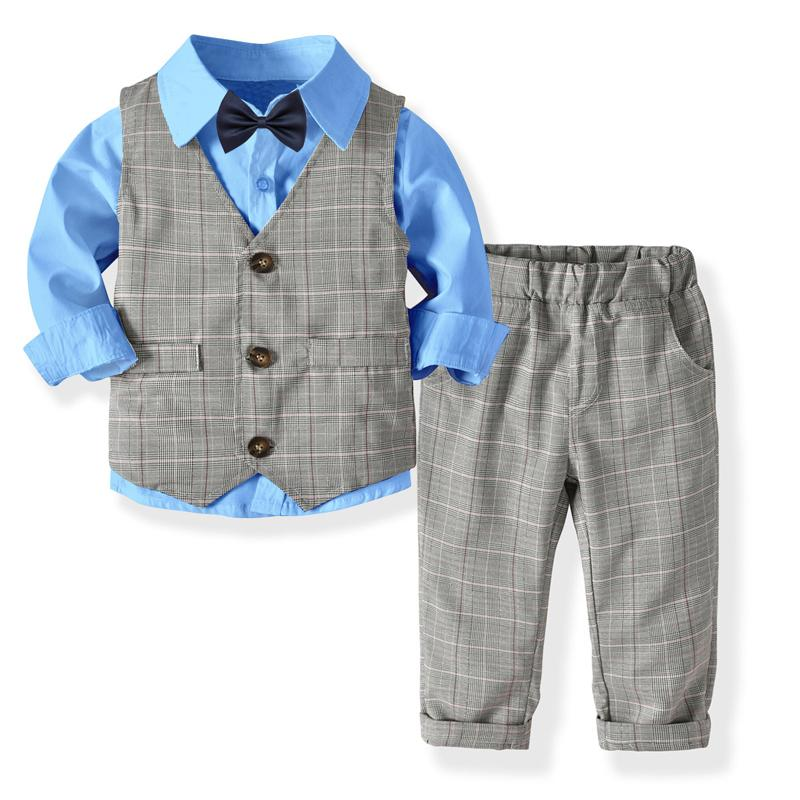 54ae5219d 2019 2019 Kids Boys Formal Suits Blazers Sets Clear Gentleman Kids ...