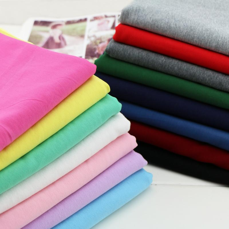 40S Cotton Stretch Knitted Terry Cloth Fabric Summer Sweater T-shirt Hoodie  Fabric